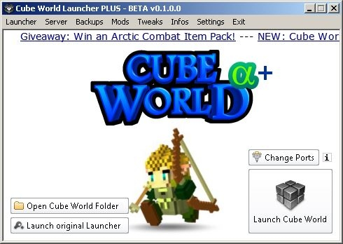 Cube world launcher plus other utilities cube world mods view 9 screenshots gumiabroncs Choice Image